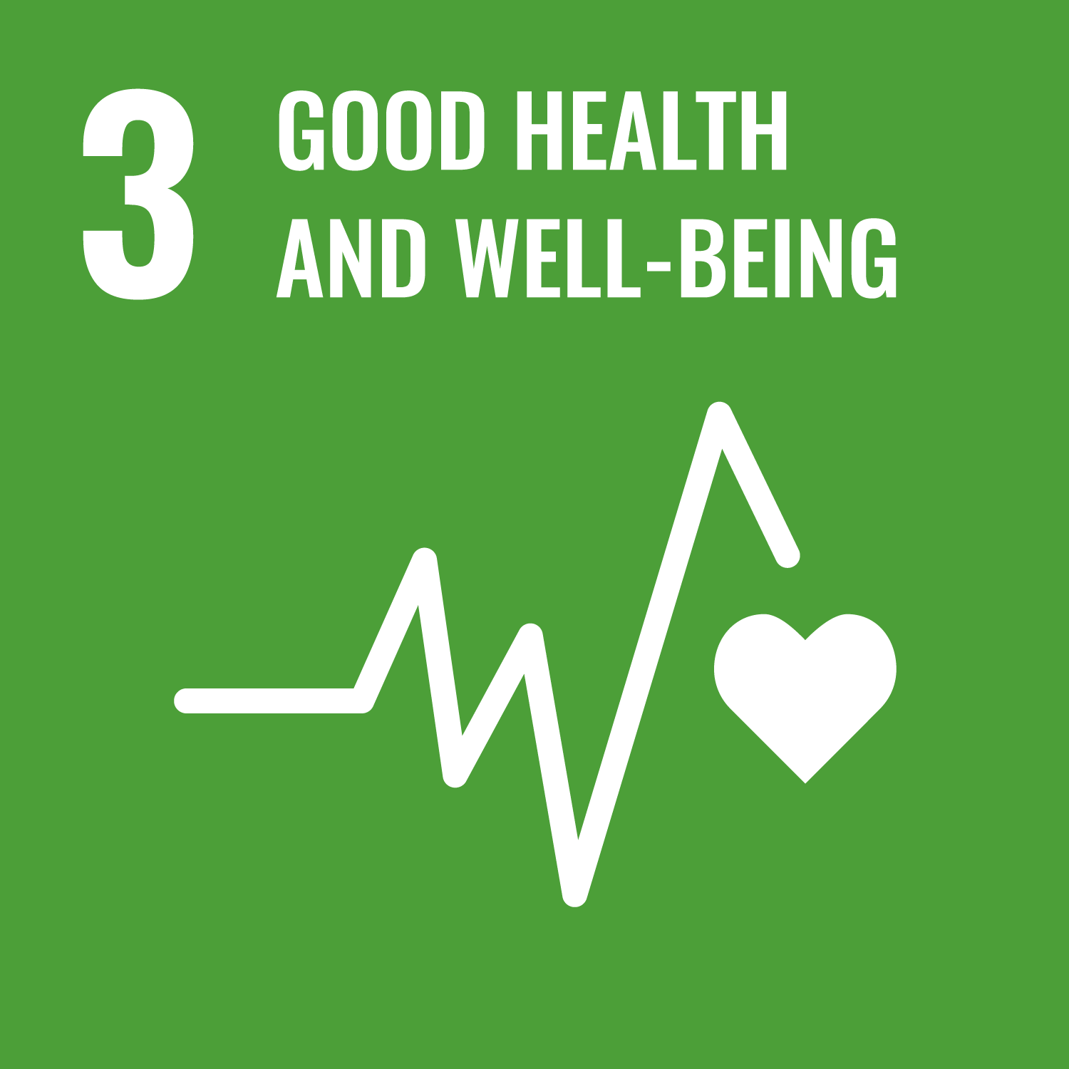 Goal 3 icon - Good health and well-being