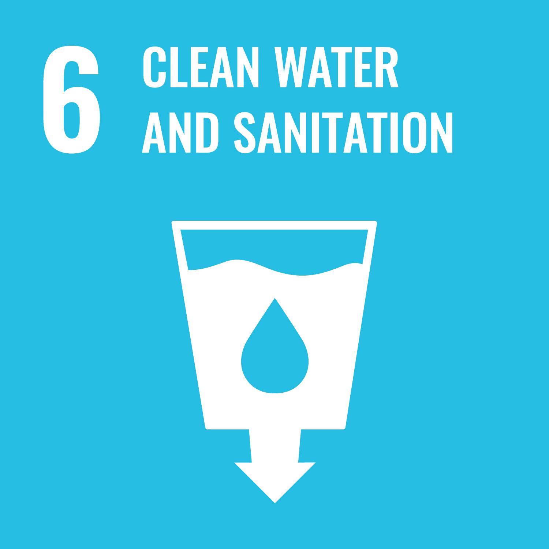 Goal 6 icon - Celan water and sanitation