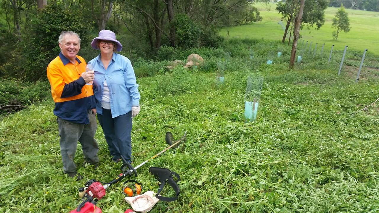 Michael and Jane McDonald working on their property in the Kangaroo Valley