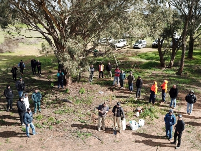 Attendees at ramsar project field day