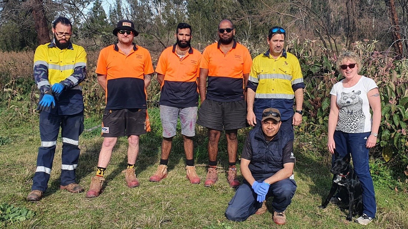 Jacqui Short with the Crew from Mogo and Batemans Bay LALCs